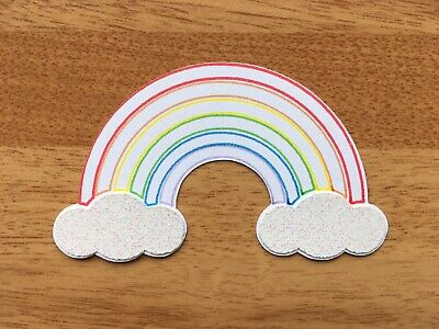 8x Mini Rainbow Card Toppers Die Cut Papercraft Scrapbook Embellishment Birthday • 2.79£