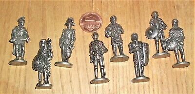$11.99 • Buy SET Of 8 DIE CAST METAL SOLDIERS Thru HISTORY *Roman, Greek, Aztec, Britain And