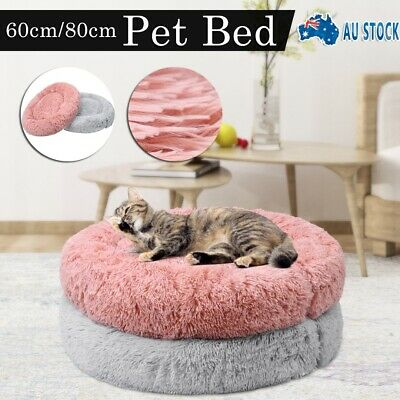 AU25.99 • Buy Pet Cat Dog Calming Bed Warm Soft Plush Round Nest Comfy Sleeping Kennel Cave AU