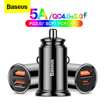 AU15.99 • Buy Baseus USB Type-C Car Charger QC4.0 PD Fast  Charging Adapter For Samsung IPhone