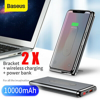 AU44.99 • Buy Baseus Qi Wireless Charger 10000mAh Power Bank PD + USB QC Fast Charging Battery