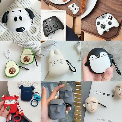 AU17.35 • Buy 3D Cute Character Animal Silicone Cover For Apple AirPods 1 2 Earphone Box Case