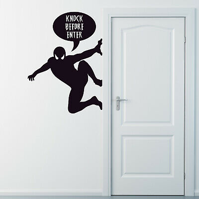 Spiderman Personalised Text Decor Vinyl Wall Sticker Home & Furniture • 14.41£