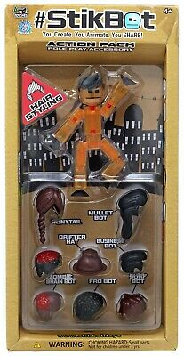 Stikbot Action Pack Series 1 Hair Styling [Orange With Black Hair] • 17.87£