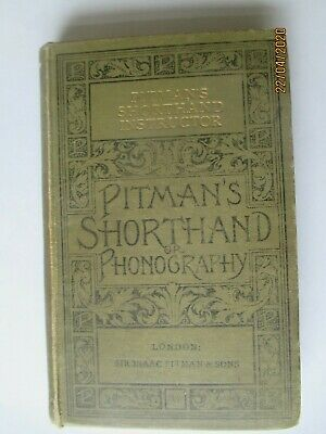 £9.99 • Buy Antique  Pitman's Shorthand Instructor Phonography 1897 Dated Hb Book