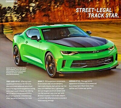 $9.99 • Buy 2017 Chevrolet Camaro Ss 1le Zl1 50th Anniversary Brochure New