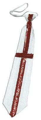 £2.99 • Buy St Georges Day Sequin Tie / England Fancy Dress