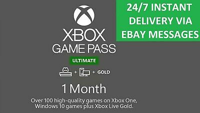 $ CDN6.94 • Buy Xbox Live 1 Month Gold & Game Pass Ultimate (2 X 14 Day Pass) - INSTANT DELIVERY