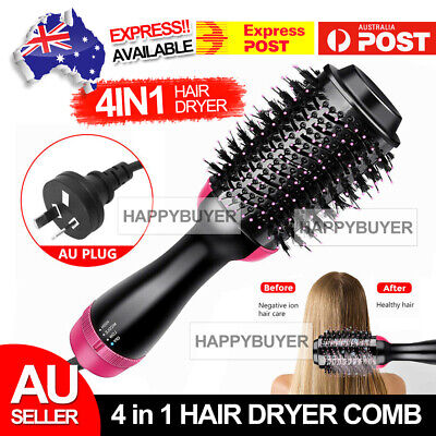AU29.85 • Buy 4 In 1 Pro Salon One-Step Hair Dryer And Volumizer Oval Brush Straightener Comb