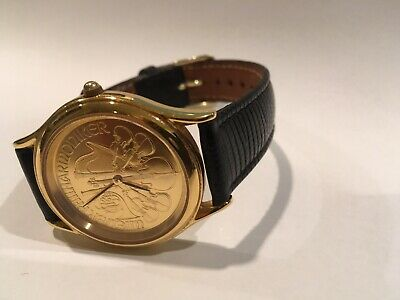 $699.95 • Buy Philharmonic Gold Coin Swiss Made Watch & Gold Plated Vienna Philharmonic Coin
