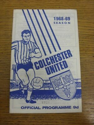 29/11/1968 Colchester United V Southend United  (light Marking On Back Cover). T • 2.99£