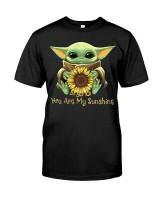 $9.98 • Buy Baby Yoda Hug Sunflower Cute You Are My Sunshine Gift Fan Shirt Size S-5XL