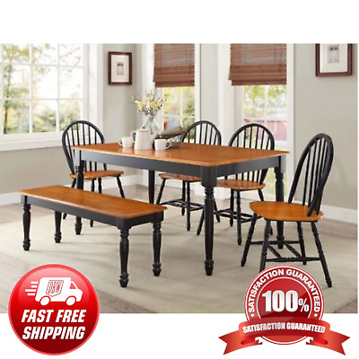 $201.50 • Buy DINING TABLE Wood Kitchen Office Desk Modern Farmhouse Room Home Furniture Decor