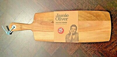AU19.95 • Buy JAMIE OLIVER Serving Cutting Buffet Bread Antipasti Wooden Serving Board RRP$30