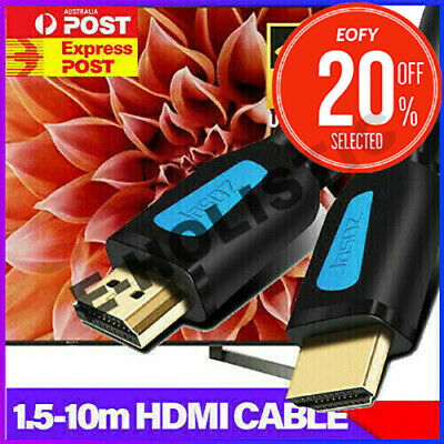 AU8.95 • Buy HDMI Cable V2.0 3D Ultra HD TV 4K 2160p 1080p High Speed With Ethernet HEC ARC