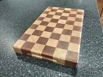 Chopping Board End Grain Butchers Block Style Chequered Oak Mahogany • 65£
