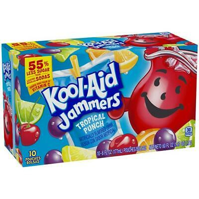 Koolaid  Kool Aid Jammers Tropical Punch 10 Pouches X 177ml  Ready To Drink(USA) • 9.99£