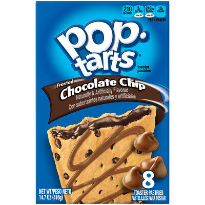 Pop Tarts Frosted Chocolate Chip 8's Toaster Pastries Imported USA • 3.99£