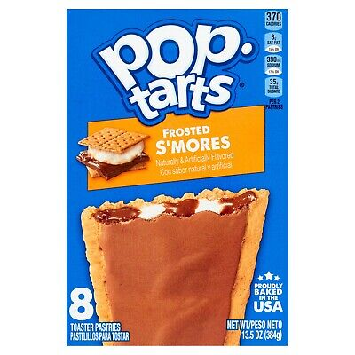 Kellogg's Pop Tarts Frosted S'mores Toaster Pastries American USA 8's • 3.99£