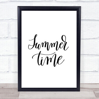 £17.95 • Buy Summertime Quote Print Poster Typography Word Art Picture