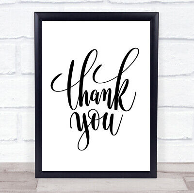 £7.29 • Buy Thankyou Quote Print Poster Typography Word Art Picture