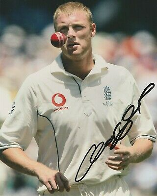STUNNING ANDREW FLINTOFF ENGLAND CRICKET SIGNED 10x8 GLOSSY PHOTO3 • 34.99£