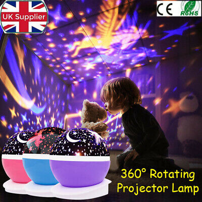 Starry Night LED Sky Light Rotating Projector Lamp Star Cosmos Master Romantic U • 11.69£