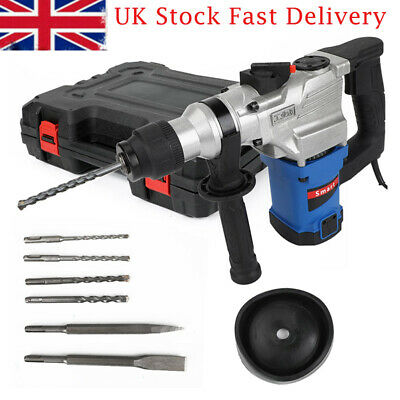 View Details 2000W Electric Hammer Drill Demolition Rotary Chuck SDS Plus Bit Set 2 Chisels • 62.96£