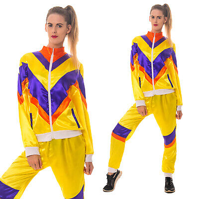 Ladies 80s Shell Suit Fancy Dress 1980's Costume Chav Outfit Scouser Track Suit • 14.99£