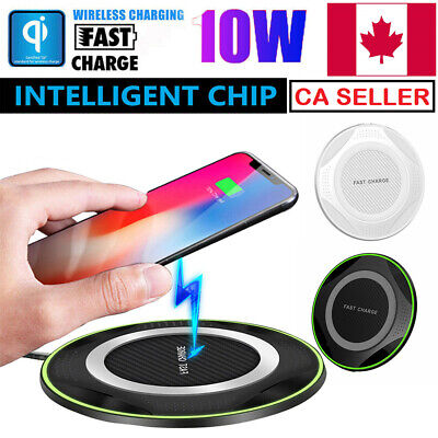 $ CDN9.99 • Buy Luxury Qi Fast Wireless Charger For Samsung Galaxy S10 Plus S9 S8 S7 Note IPhone