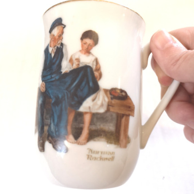 $ CDN16.80 • Buy Vintage Norman Rockwell 8oz Coffee Mug  The Lighthouse Keepers Daughter  1982