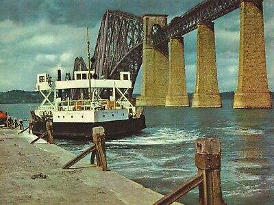 Forth Bridge And Ferry Scotland Vintage Colour Picture Print 1956 THOSIC#69 • 3.39£