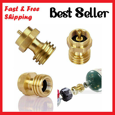 $12.99 • Buy Propane Tank Adapter Hook Up 1LB Small Bottle To Gas Grill BBQ 100% Solid Brass