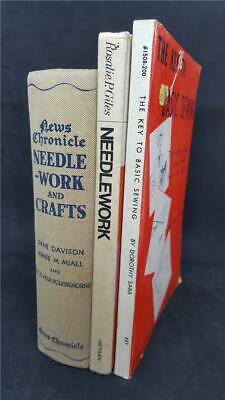 3x Vintage Sewing Books 1965/70, Needlework / Crafts, The Key To Basic Sewing • 18£