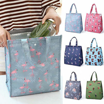 AU14.06 • Buy Portable Insulated Lunch Bag Cute Women Kids Pracitical Picnic Tote Cooler Box