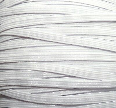 $ CDN1.71 • Buy One Metre Of Soft, Stretchy, Flat Elastic, White Colour, 6 Mm Wide, Made In Uk