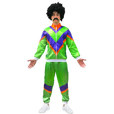 80s Shell Suit Stag Adult Scouser Fancy Dress Costume Tracksuit Mens • 14.99£