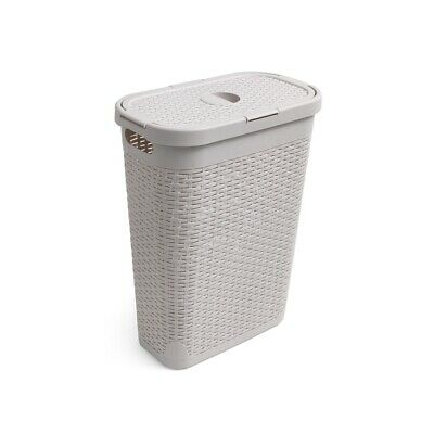Addis Rattan 40 L Slim Laundry Clothes Washing Hamper Bin, Calico 518146ebay • 17.99£