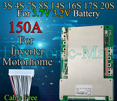AU82.86 • Buy 3S 4S 7S 8S 14S 16S 17S 20S 150A LiFePo4 LFP LiPo Li-ion Lithium Cells BMS Board