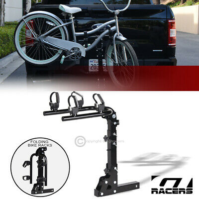 $116 • Buy 2-Bike Trailer Tow Hitch Mount Bicyle Rack Adjustable Foldable Carrier Kit GT13