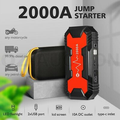 AU149.95 • Buy 36800mAh 12V Car Jump Starter Power Bank Vehicle Battery Charger Booster 2000A