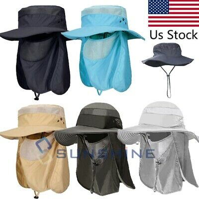 $16.59 • Buy Hot Hiking Fishing Wide Brim Hat Outdoor Sport Sun Protection Neck Face Flap Cap