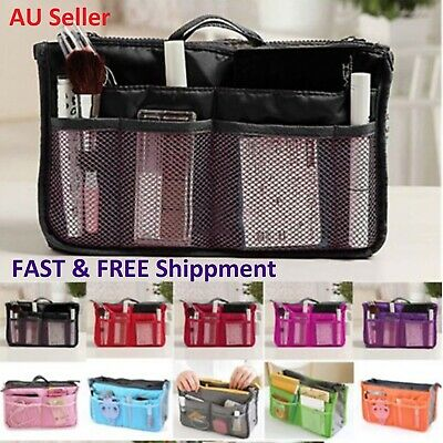 AU10.65 • Buy Handbag Organiser Bag Insert Women Wallet Pouch Travel Purse Make Up Stationary