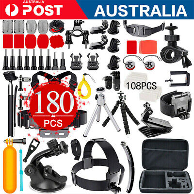 AU33.99 • Buy Accessories Pack Case Chest Head Monopod For GoPro Go Pro HD Hero 8 7 6 5 4 3+