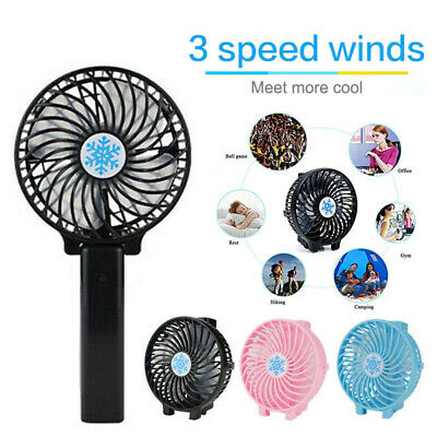 AU15.99 • Buy Mini Portable Fan Cool Air Small Handheld Cooler USB Rechargeable Electric Fans
