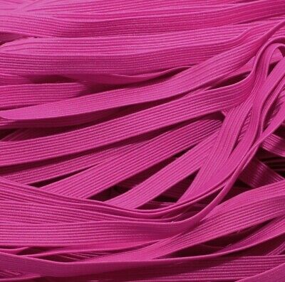 $ CDN2.59 • Buy One Metre Of Soft, Stretchy, Flat Elastic, Fuschia Pink Colour, 6 Mm Wide