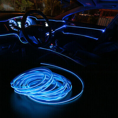 $4.75 • Buy 6.5FT LED Car Interior Decor Atmosphere Wire Strip Blue Light Lamp Accessories