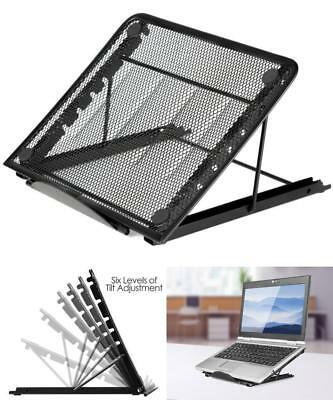 AU14.98 • Buy Foldable Laptop Stand Adjustable Notebook Table Portable Tray Lazy Computer Desk