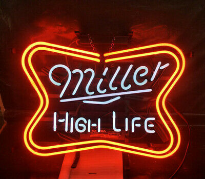 $165.99 • Buy Miller High Life 20 X16  Neon Sign Lamp Bar With Dimmer