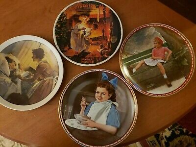 $ CDN31.64 • Buy Knowles Norman Rockwell Plate Collection Lot Of 4 Plates - Free Shipping